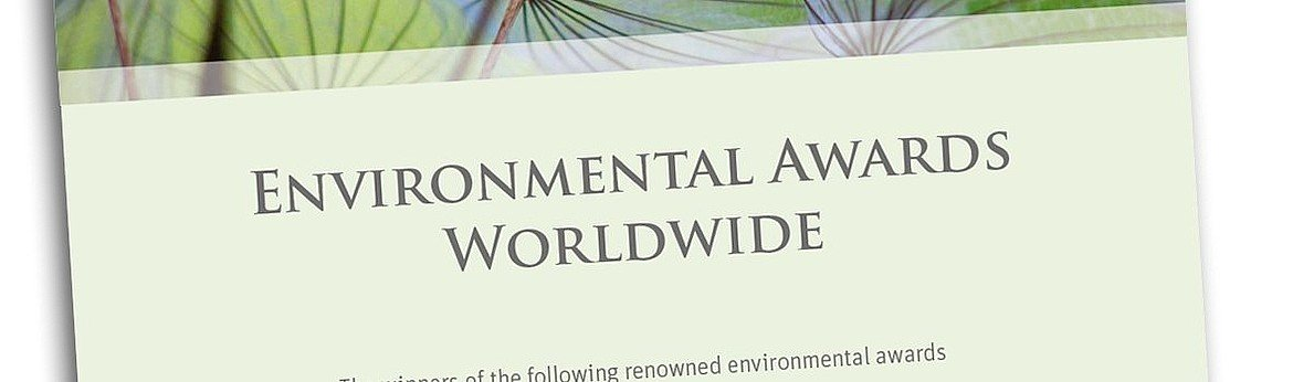 Cover Environmental Awards Worldwide