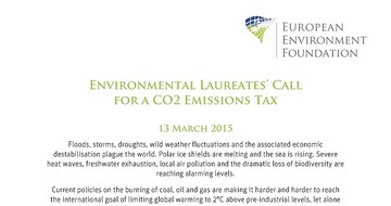 Environmental Laureates' Call for a CO2 Emissions Tax