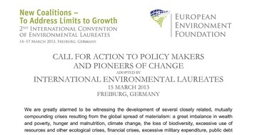 International Convention - Eur Environment Foundation - Declaration 130316